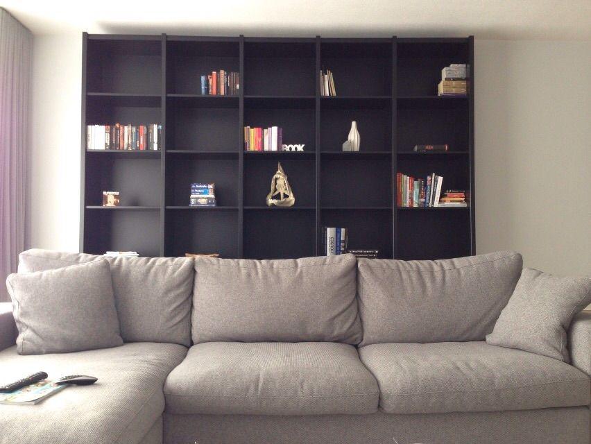 Kasten Woonkamer: Kasten woonkamer wit gebroken met pastel blauw groen ...